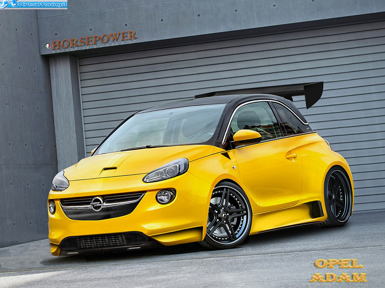 opel adam by horsepower virtualtuning it. Black Bedroom Furniture Sets. Home Design Ideas